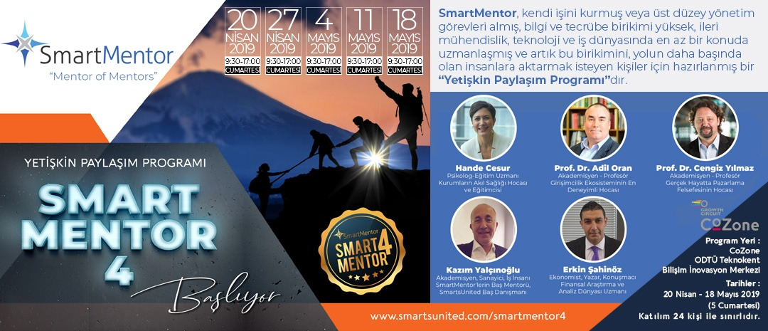 SmartMentor 4 Yetişkin Paylaşım Programı Başlıyor - SmartsUnited